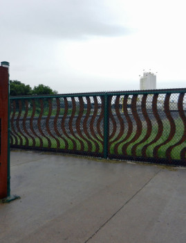 Pedestrian Safety Maze and Bench
