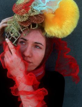 Headdress: Re-purposed Materials