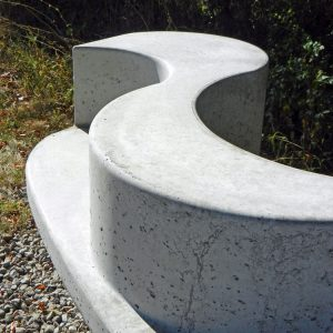 Serpentine Bench detail