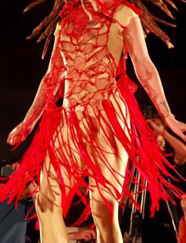 Red Ribbon Dress