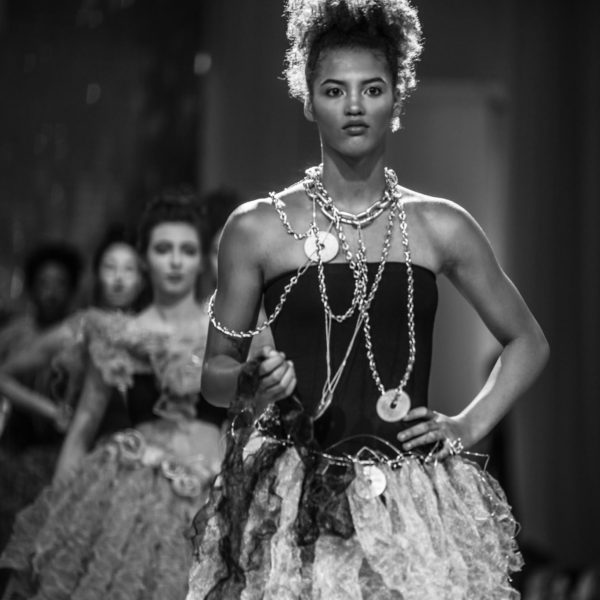 Runway model walk.  Photo: Michael Psch