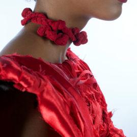 Red Wrapped Kimono